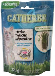 Kattgräs refill 220 g, Muzo