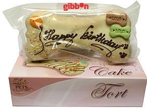 "Lolo tårt-ben ""Happy Birthday"" 19 cm/250 g"