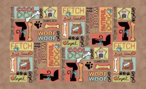 Underlägg Cool Dog brun 51x30 cm, Drymate