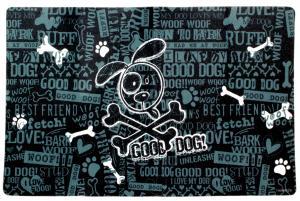 Underlägg Good Dog svart 51x30 cm, Drymate