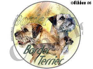 Dekal rund Borderterrier