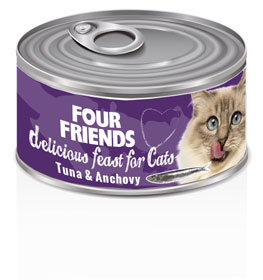 Four Friends Cat Tuna & Anchovy 85 g