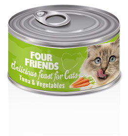 Four Friends Cat Tuna & Vegetables 85 g