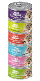 Four Friends Cat 6-pack mix