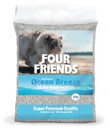 Four Friends Cat Litter Ocean Breeze 14 kg