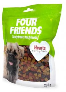 Four Friends Dog Hearts