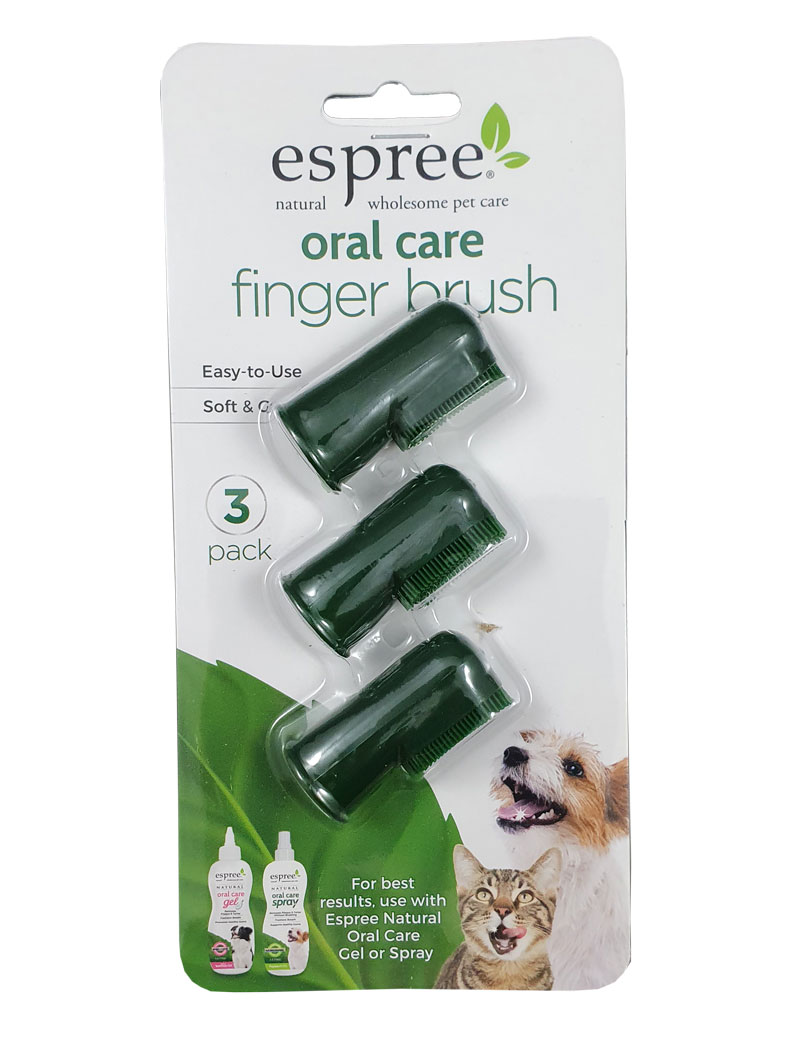 Espree Oral Care Fingerbrushes 3-pack