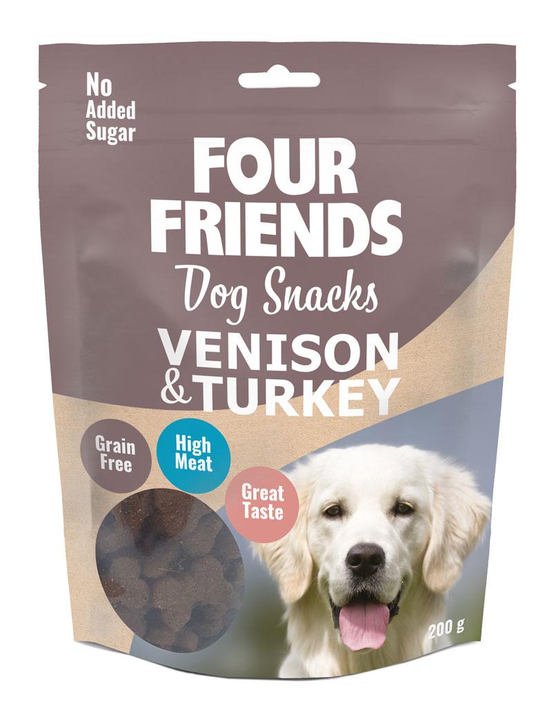 Four Friends Dog Snacks Vension & Turkey 200 g