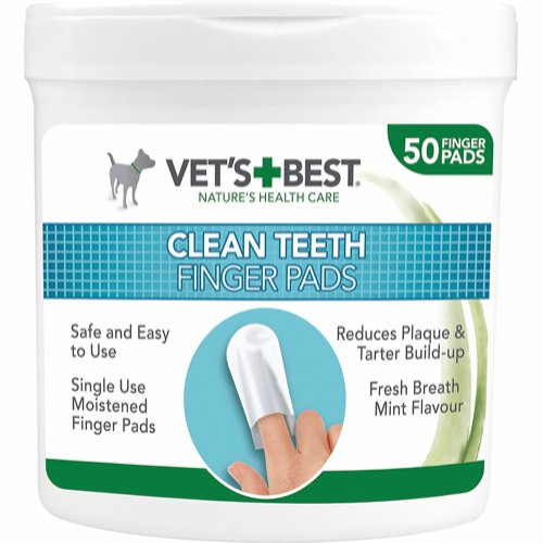 Vet's Best Clean fingertuta tandvård 50 st