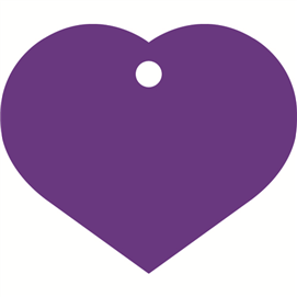 ID-bricka stort hjärta