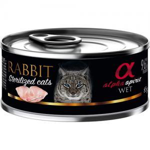 alpha spirit CAT Rabbit Sterilized 85 g