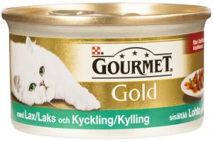 Gourmet Gold Lax & Kyckling i sås 85 g
