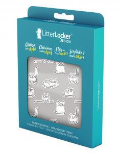"""LitterLocker Design Sleeve """"Paper Cats"""""""