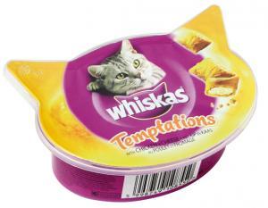 Whiskas Temptations Kyckling/Ost 60 g