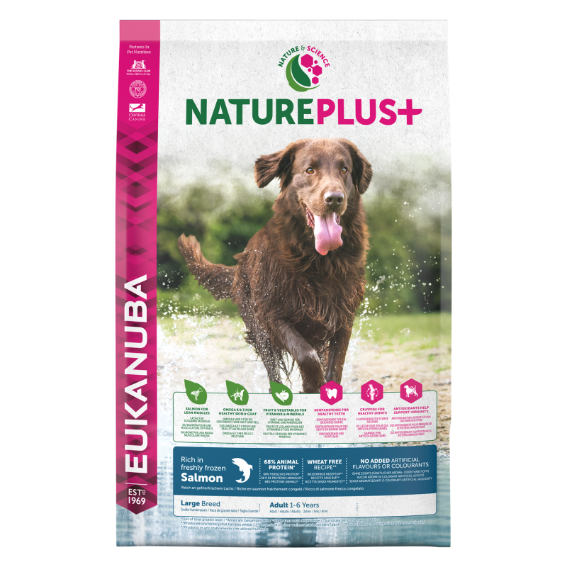 Eukanuba Nature Plus+ Adult Large Breed Salmon