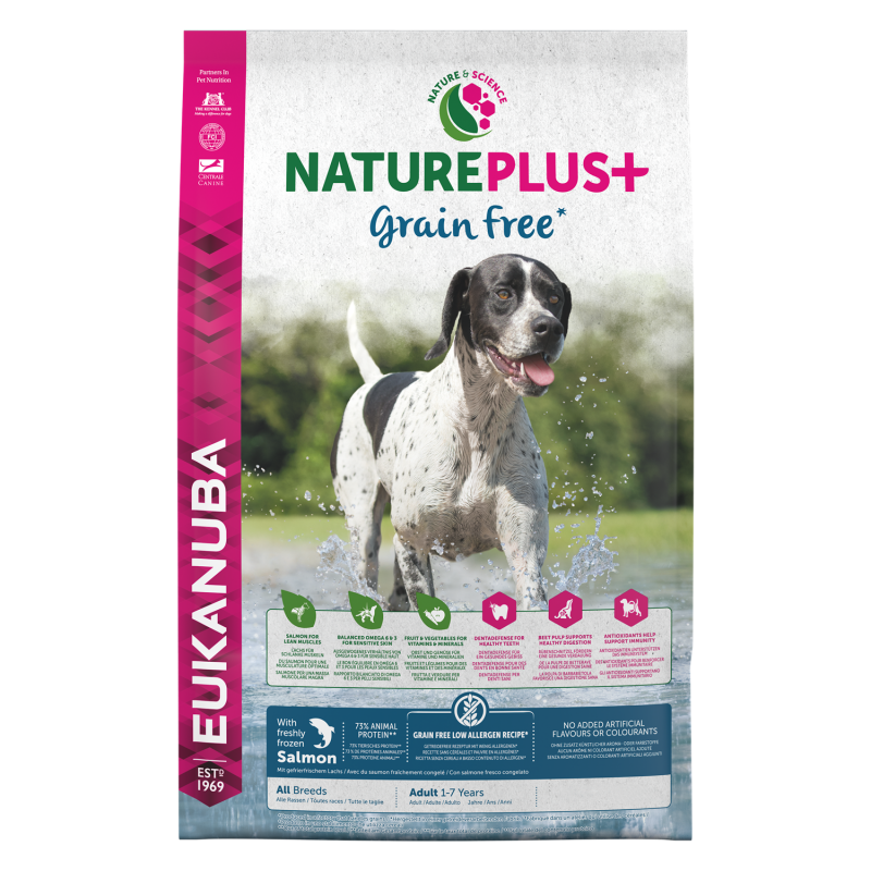 Eukanuba Nature Plus+ GrainFree Adult All Breed Salmon