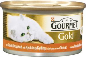 Gourmet Gold Délicatesse Oxkött & Kyckling i tomatsås 85 g