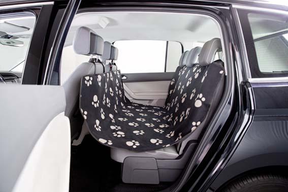 Bilskydd för baksäte, 1,40 x 1,45 m, svart/beige