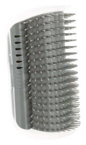 Massageborste för hörnmontering, katt, 8x13 cm, grå