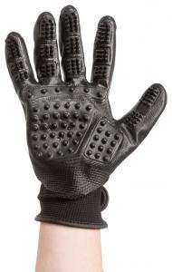 Pälsvårdshandske, 1 par, nylon/gummi 16x23 cm, svart