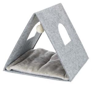 Junior igloo, filt, vikbar, 38 x h34 x 38 cm, ljusgrå