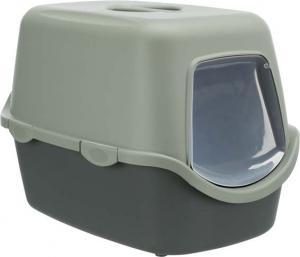 Be Eco Vico kattlåda, med huv, 40 x 40 x 56 cm, antracit/grå-grön