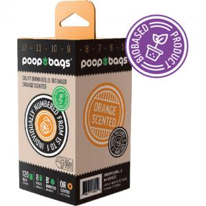 Poop Bags Biobased Orange Scented 120-p