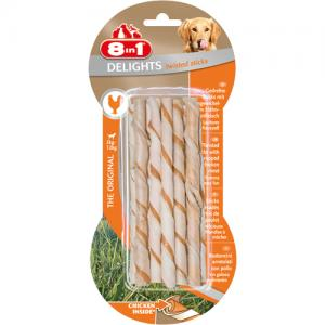 8in1 Delights Twisted Sticks Chicken, 10 st