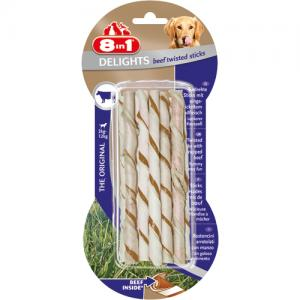 8in1 Delights Twisted Sticks Beef, 10 st