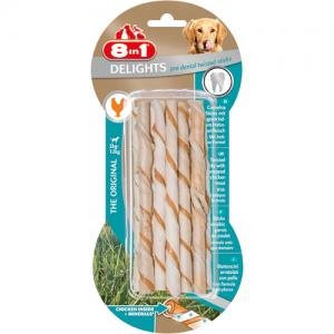 8in1 Delights Twisted Sticks Dental Chicken, 10 st