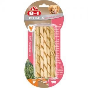 8in1 Delights Twisted Sticks Pork, 10 st