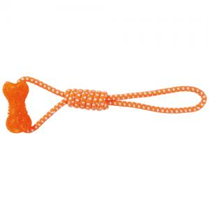 Apport med rep 10/42 cm, orange/vit