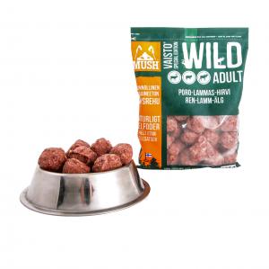 MUSH B.A.R.F Vaisto Wild Ren-lamm-älg-måltid 800 g