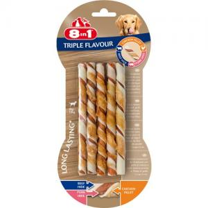 8in1 Delights Twisted Sticks Triple Flavour, 10 st