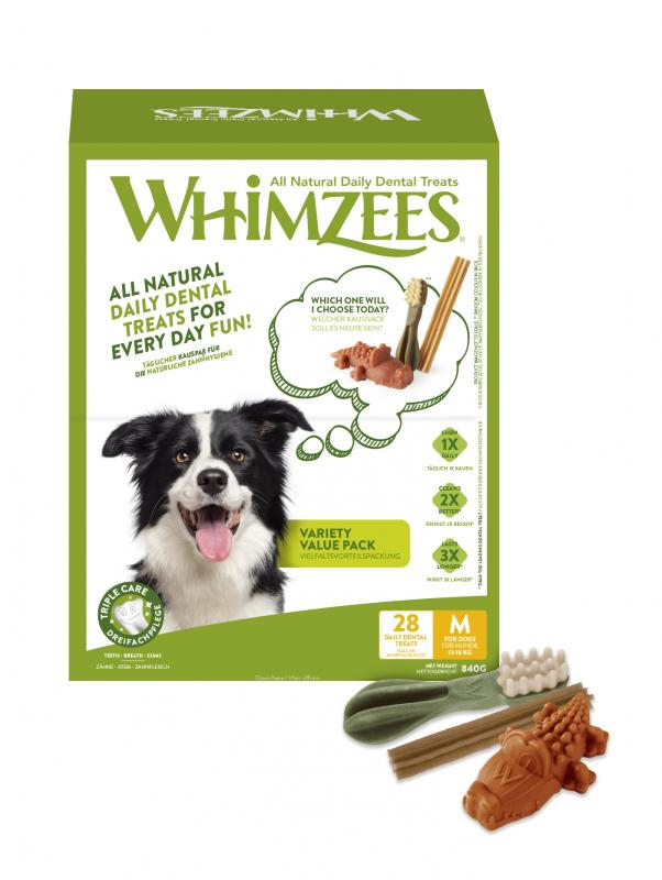 Whimzees Variety Value Box M/28 st