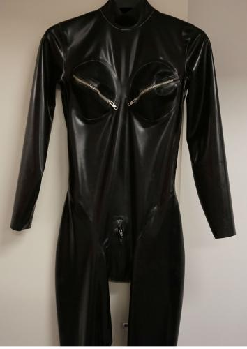 Latex Leotard Line Catsuit
