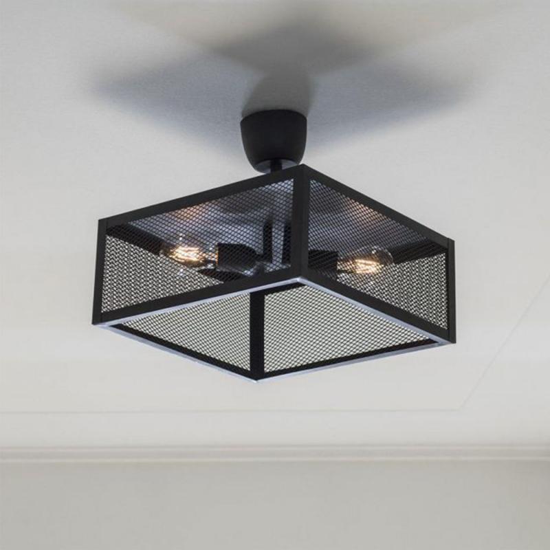 Grid plafond- häftig taklampa i bur