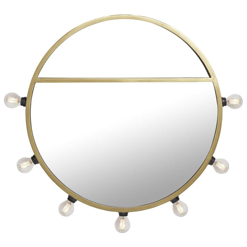 spegellampa runt spegel