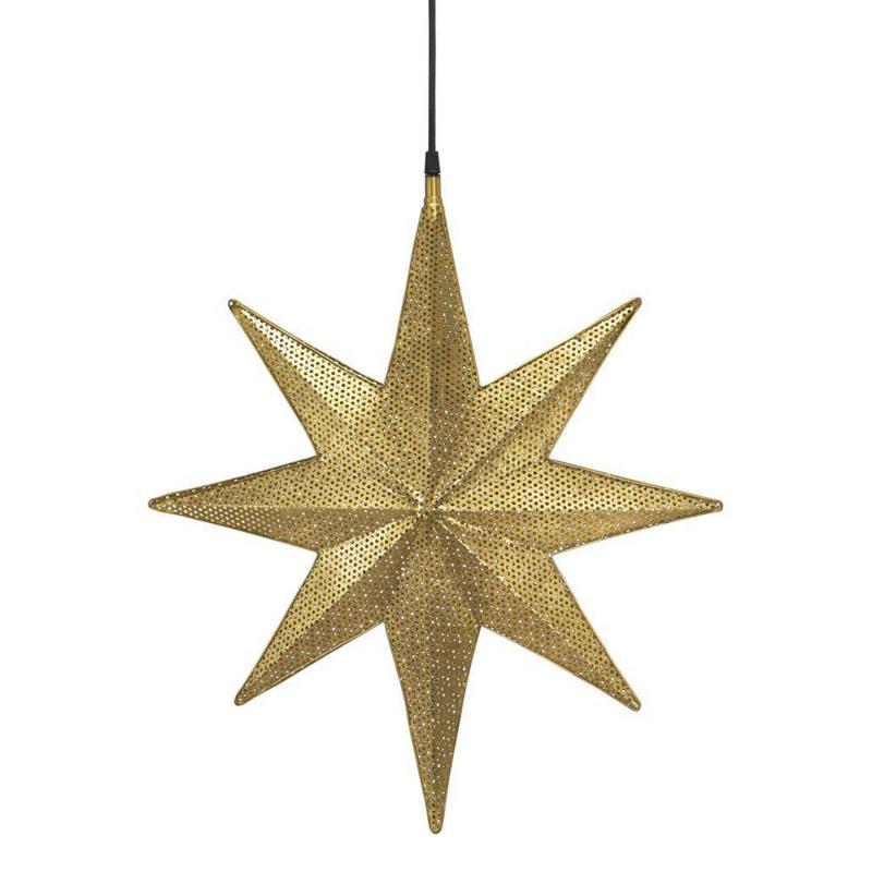 Capella adventsstjärna i guldfärgad perforerad nickel