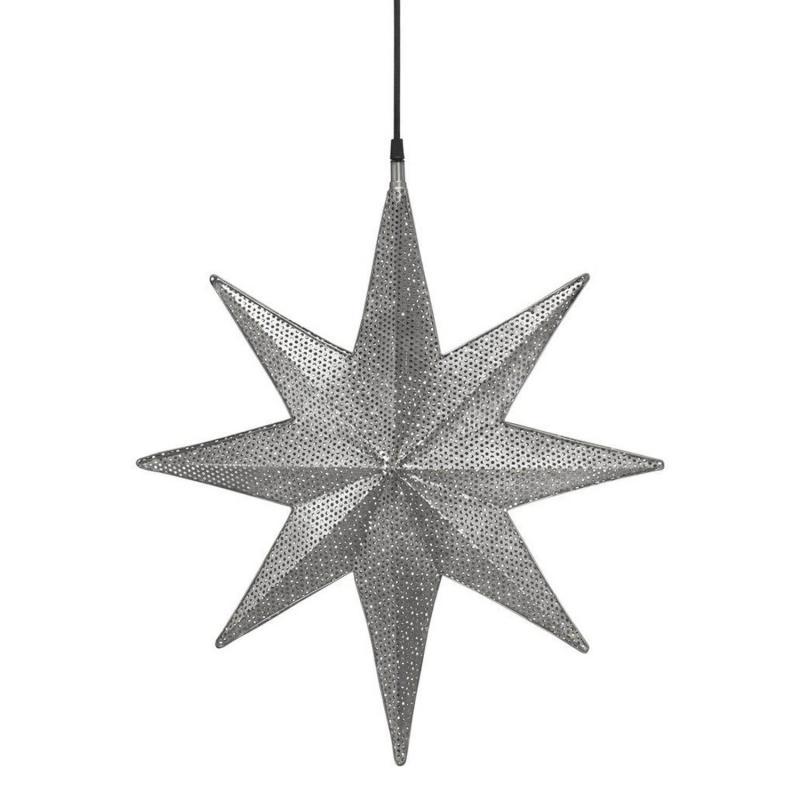 Capella adventsstjärna i ljust grå perforerad nickel