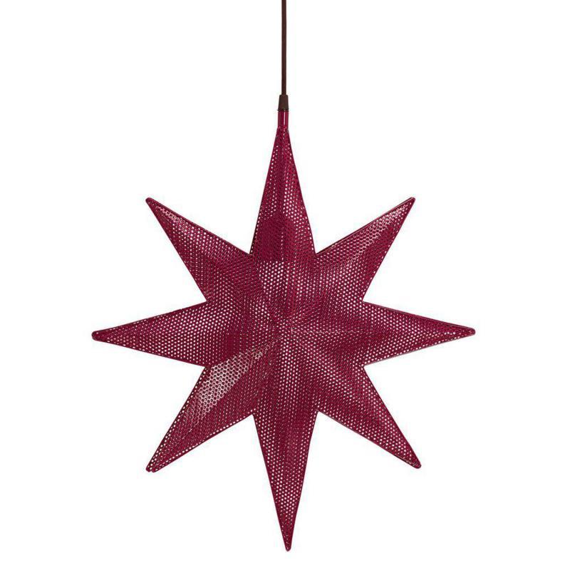 Capella adventsstjärna i röd perforerad nickel