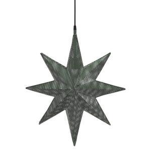 Capella adventsstjärna i mörkt grå perforerad nickel