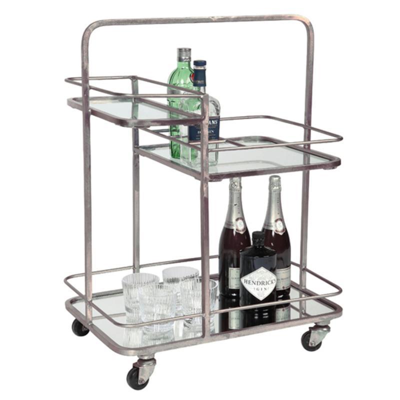drinkvagn i silver