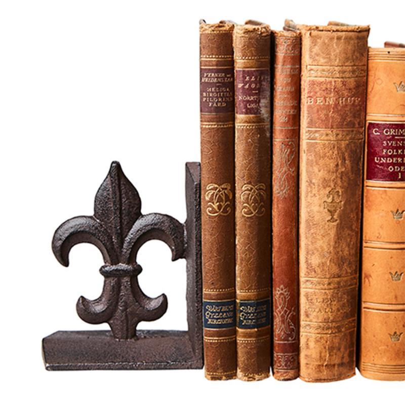 Bokstöd franska liljan- 1 par bokstöd i smide
