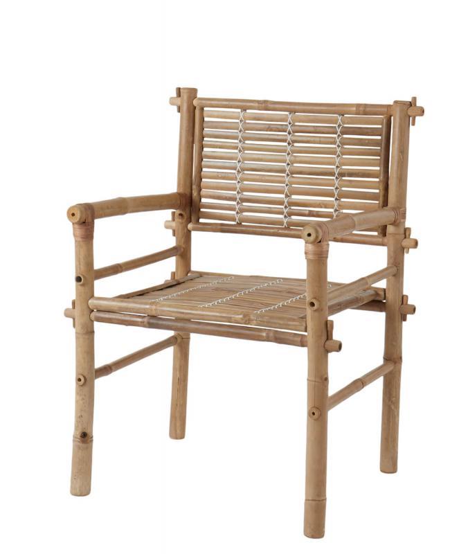 4 st Antonio bambustolar - utemöbler i lätt material