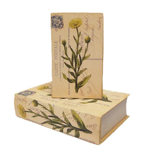 Bokgömma med flora-motiv - hemlig bokask - boklåda