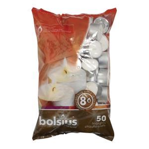 Värmeljus 8h- 50 pack vit