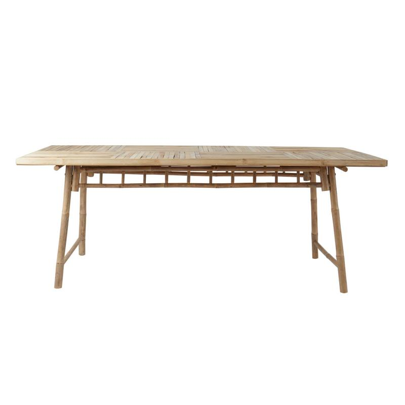 Matbord i bambu - trädgårdsmöbel i rustik stil