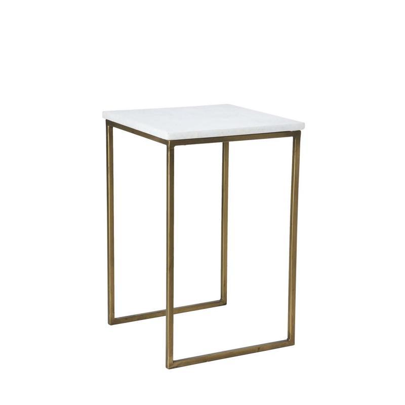 satsbord i marmor med metallställning