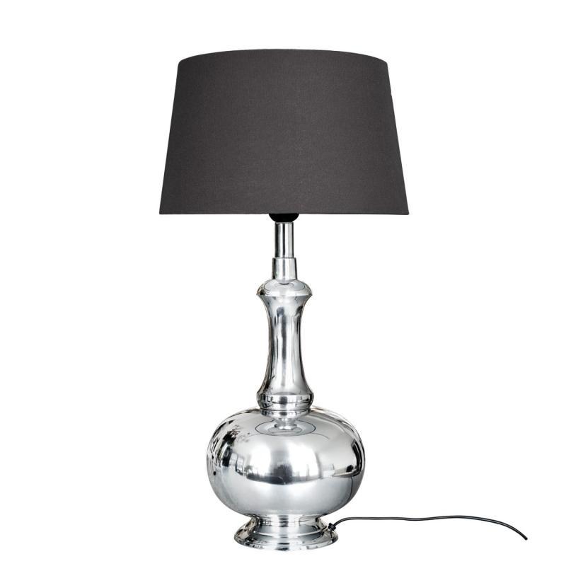 Komplett bordslampa polerad aluminium